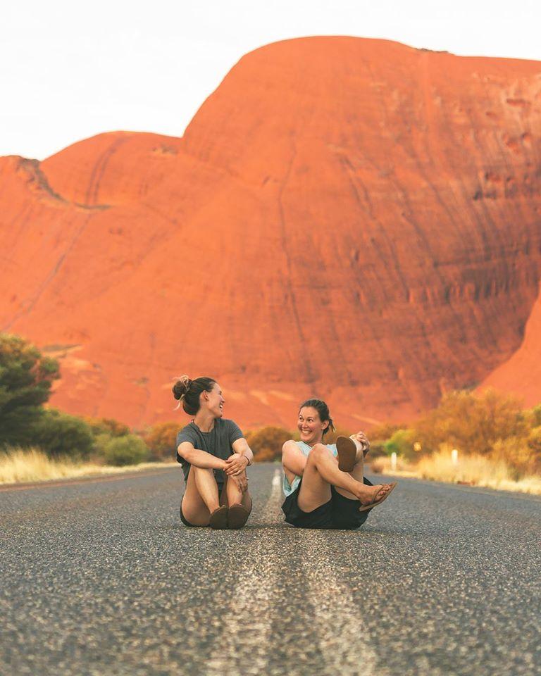 Amy and Sarah Uluru