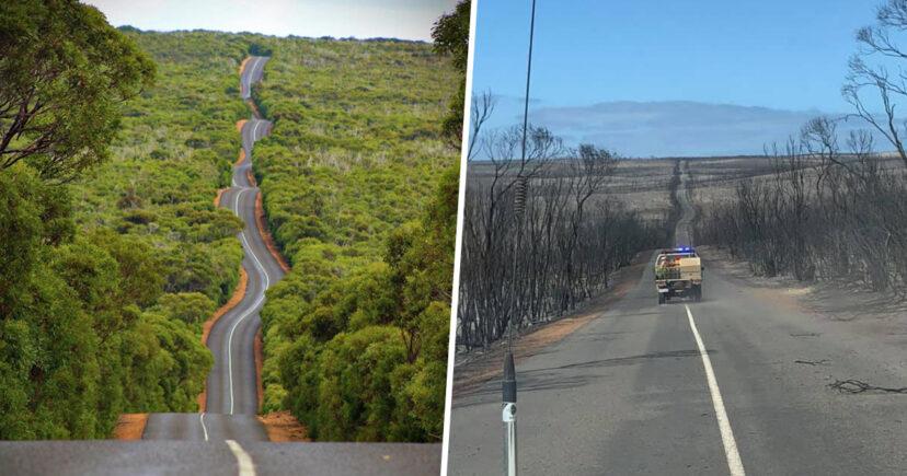 kangaroo Island Before / After - Aaron Coleman/Instagram/Kayne Davis/Facebook