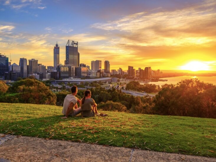 Chill at Kings Park and the Botanic Garden to get the best view on the city at the Kaarta Gar Up lookout.